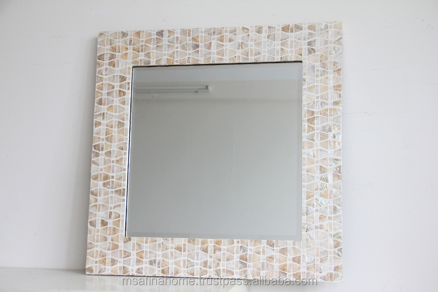 Square mother of pearl mirror