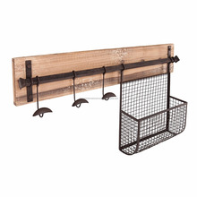 Decorative Wall Mount Wire Slim Key Rack Storage Baskets.