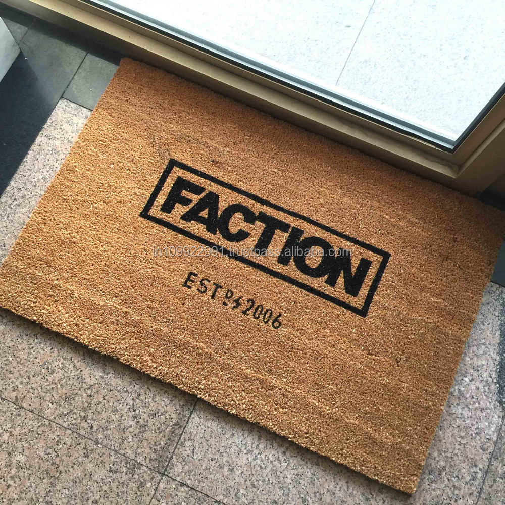 customized coco coir doormat