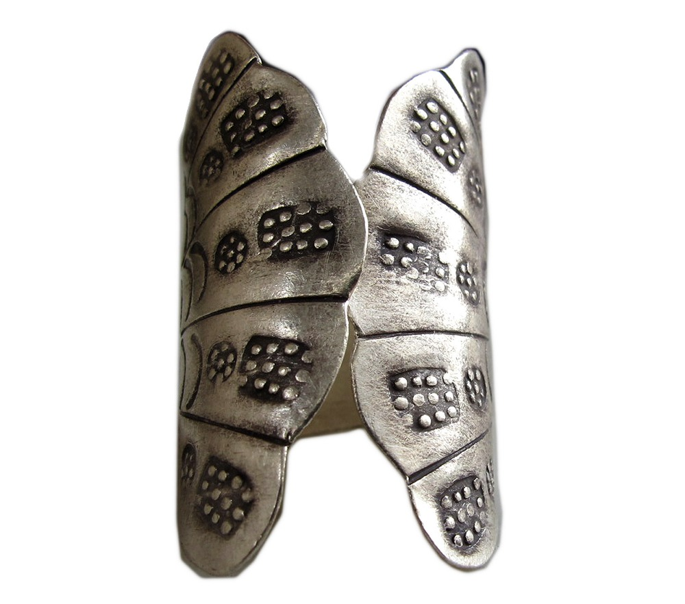 FREE SHIPPING THAI KAREN HILL TRIBE SILVER RING SIZE ADJUSTABLE 7-8 WEIGHT 5.0 GRAMS