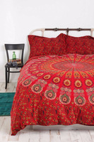 Indian Mandala Double Queen Size Duvet Cover Doona Blanket Bohemian boho bed set, mandala tapestry bedding, boho bedding Decor