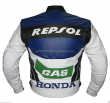Men Motorcycle Racing Cow hide Leather Jacket CE Approved Armours All Sizes