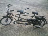 Miniature Bicycle Metal Material Iron Copper Brass Craft tandem or duet model Handmade Indonesia
