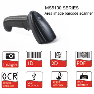 MS5100 USB/RS232&PS2 cost-effective Handheld Images Barcode Scanner