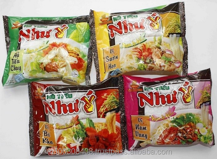 Instant Rice Noodles (Hu Tieu) 60g - Beef, Orient, Pork, Vegetable, Chicken Flavours
