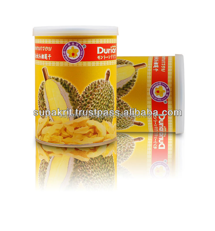 Thai Best Selling Vacuum Freeze Dried Durian in Tin Can ( 50 grams ) [ Thai Ao Chi Fruits ]