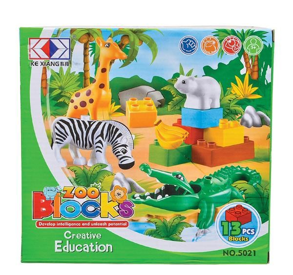 13 PC ZOO BLOCK SET
