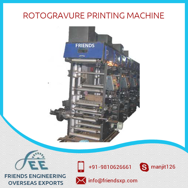 Best Selling Plastic Film 6 Colour Rotogravure Printing Machine at Low Price