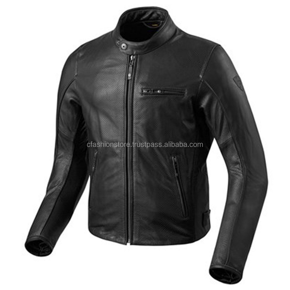 CFCLJ-0004 Revit Classical leather motorcycle jacket