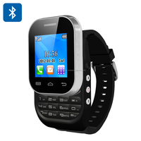 Ken Xin Da W1 Bluetooth Watch Phone - Dual SIM, Camera, Slideout Keyboard (Black)
