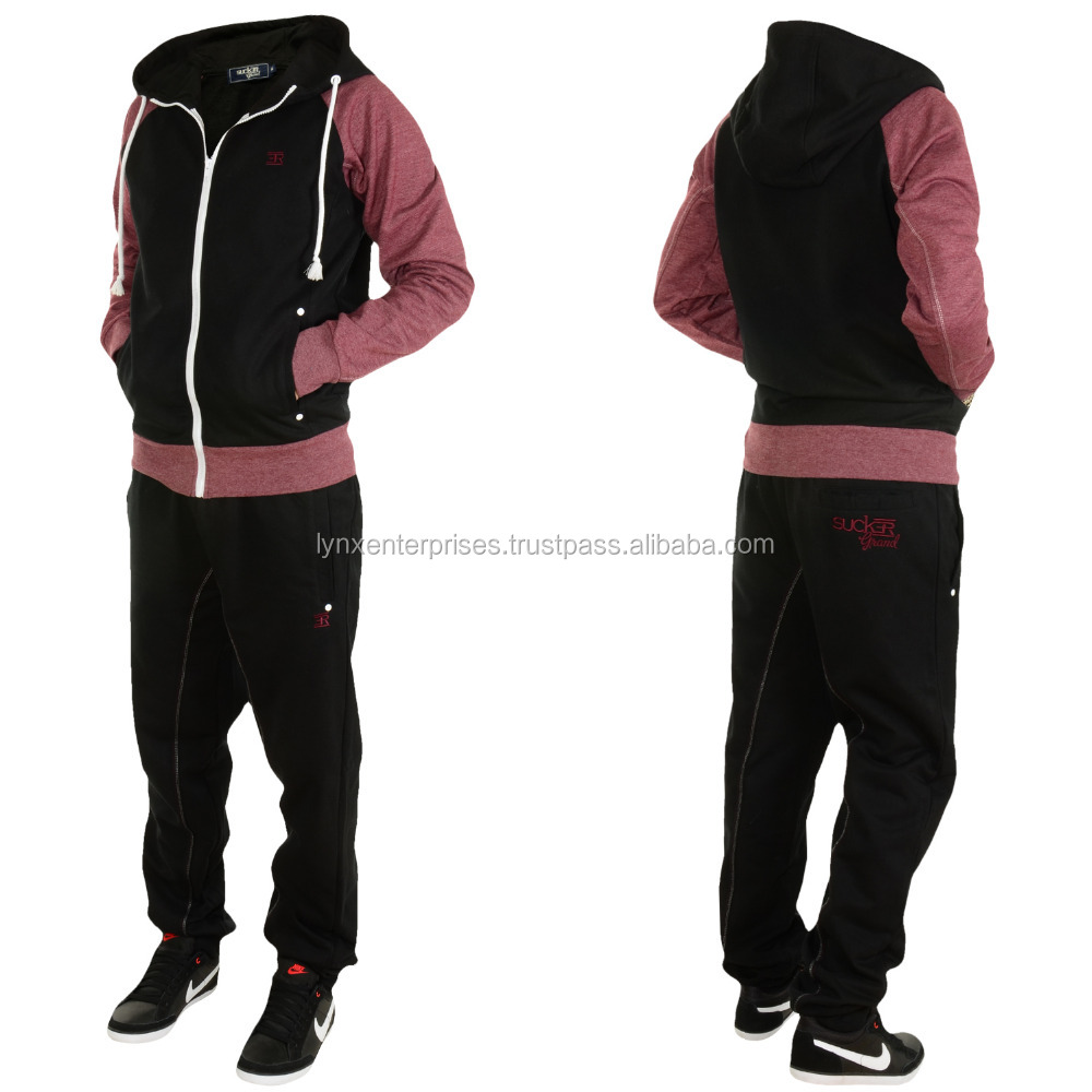 Contrasting Sweat Suit / Distressed Sweat Suit / Latest Style Jogging Tops and Jogging