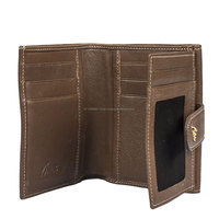 branded leather wallet