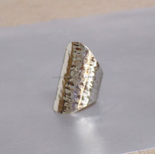 Exotic hot selling 925 silver plated hammered ring