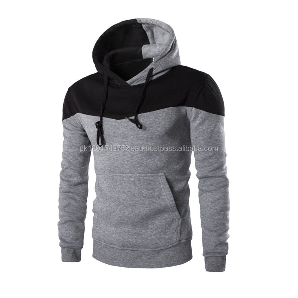zip side 100% cotton cheap wholesale hoodies from china drawstring hood pouch pocket men's pullover