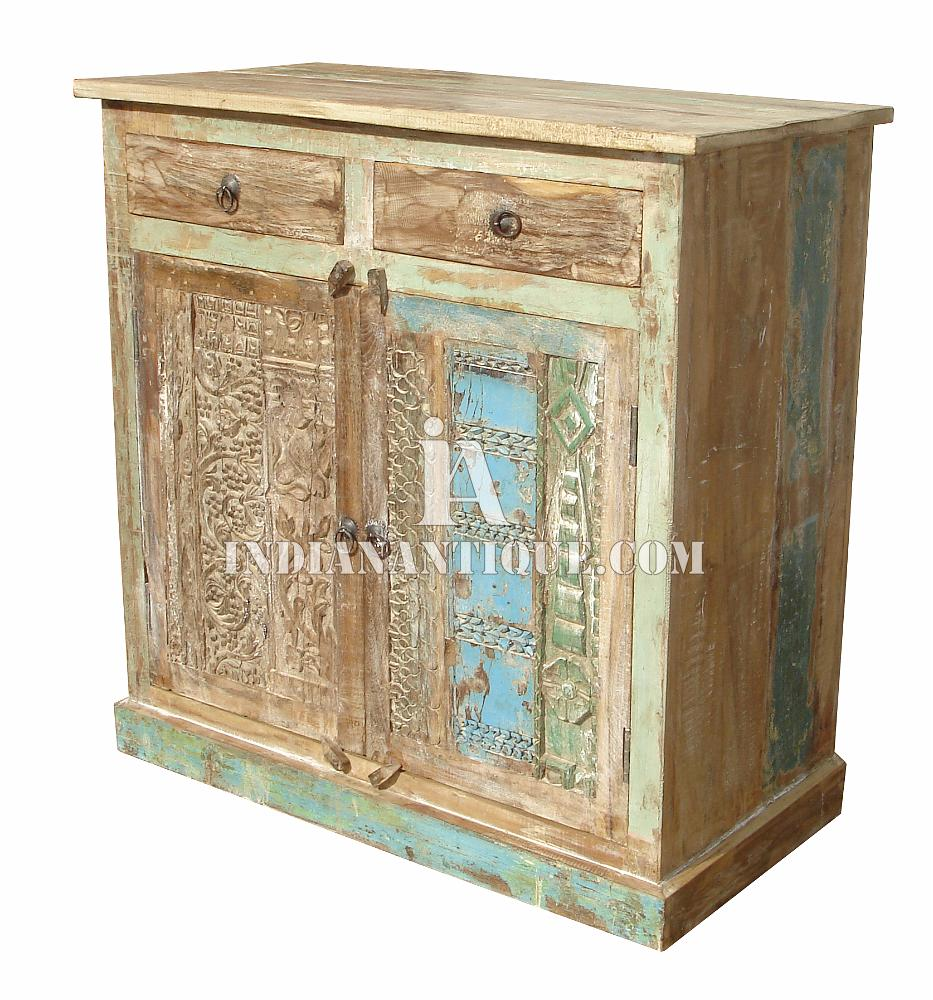 INDIAN RECYCLED WOODEN CARVED SIDEBOARD FURNITURE RWC-012