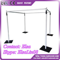 Cheap stainless steel pipe price mandap pipe and drape frame with adjustable height