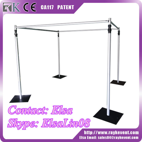 Wholesale stainless steel pipe price mandap pipe and drape frame used pipe and drape for sale
