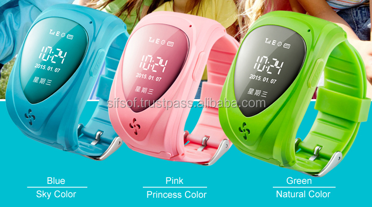 SIFIT-1.7 Wristband Pedometer with GPS for Kids. Bluetooth Activity Tracker for Kids.