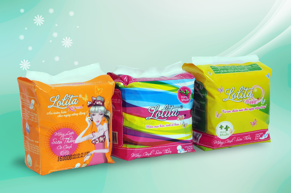 Sanitary Napkin Lolita high quality product Vietnam for women day and night use