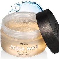 Aqua Hair Wax Styling Gel - Anti Frizz Combo Size Water Based Pomade Jar 8.5 oz - For All Hair Types