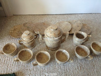 Coral Fosil Marble Tea Sets in Wholesale Price