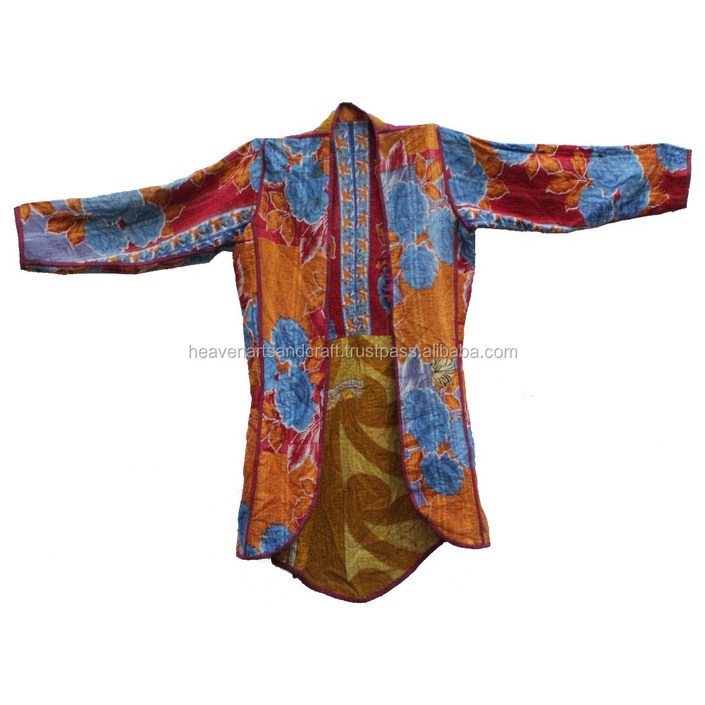 Women Girl's Ethnic Jacket Coat Kantha Jackets