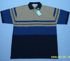 100% cotton yarn-dyed stripe color combination polo-shirt for man