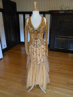 Gold Pageant Evening Dress