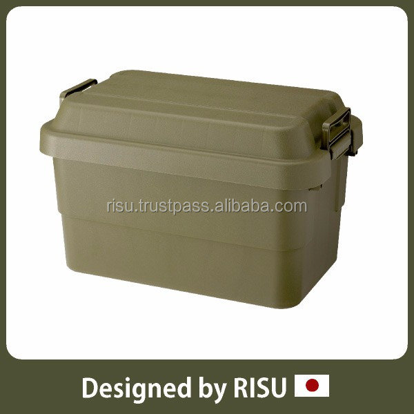 Functional and High-capacity plastic storage case storage container with lid with handles