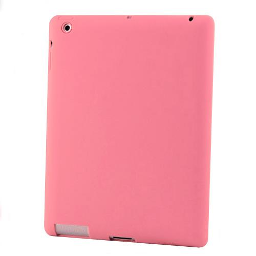 Silicon Case for New iPad 3-Pink