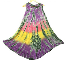 Multipurpose Rayon Umbrella Dress Customized Beach Wear Tie Dye Maxi Dress Arabic Dress