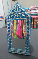 designer fancy handmade decorated wall hanging table dressing mirror