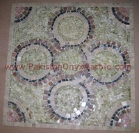 CUSTOM DESIGN AND SHAPE ONYX MOSAIC TILES