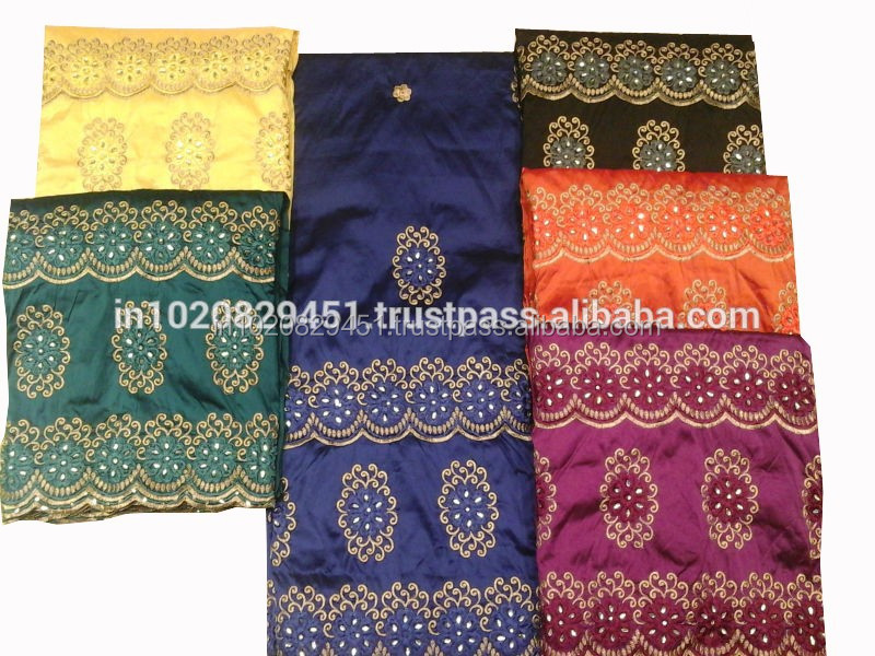 Indian Style George Fabric Silk african george fabric for women