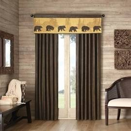 "Woolrich Bear Lodge Window Curtain - Brown - 108"" Panel"