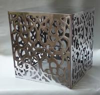 Round Shape Wooden Top Aluminium Spring Stool / Wooden Top Metal ...