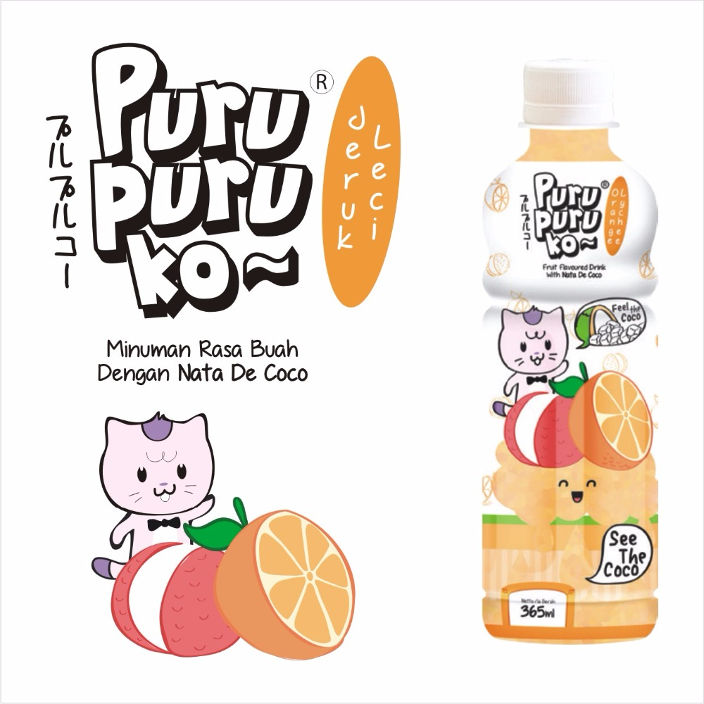 FRUIT DRINK ORANGE FLAVOUR WITH NATA DE COCO