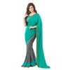 Trendy Grey Colored Printed saree Faux Georgette Saree TSSUSE16625