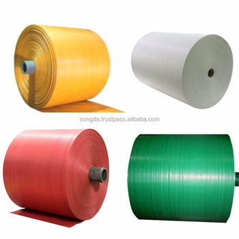 Wholesale plastic recycle flat pp woven fabric roll
