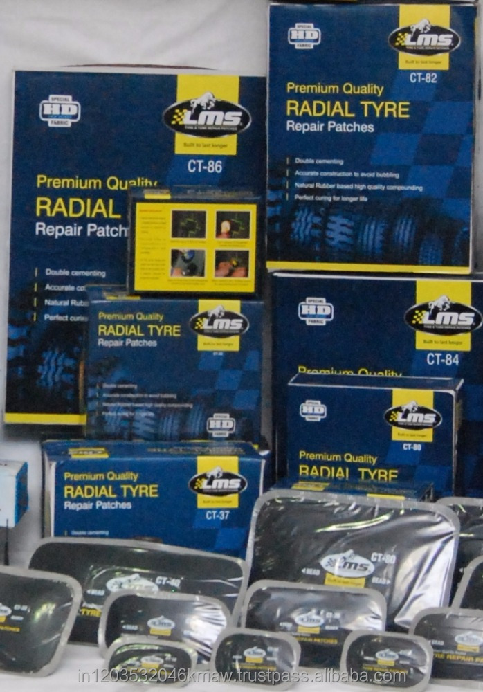 Radial Tire Repair Patches