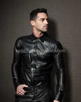Model Man Fashion Leather Shirt