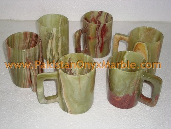 NATURAL STONE ONYX COFFEE CUPS OR MUGS HANDICRAFTS