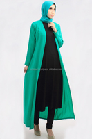 3 Pieces Basic Long Cardigan + Sleeveless Inner Midi Dress with Pants