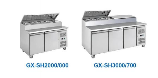 stainless steel commercial sandwich counter,restaurant cabinet