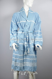100%Cotton women's white Bathrobe