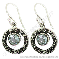 blue topaz earrings,earring castings wholesale,fine silver jewelry supplies