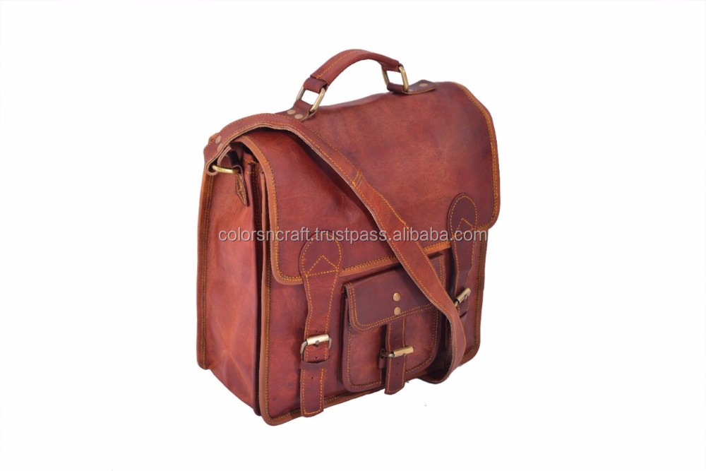 unisex hot genuine goat leather briefcase/ bags