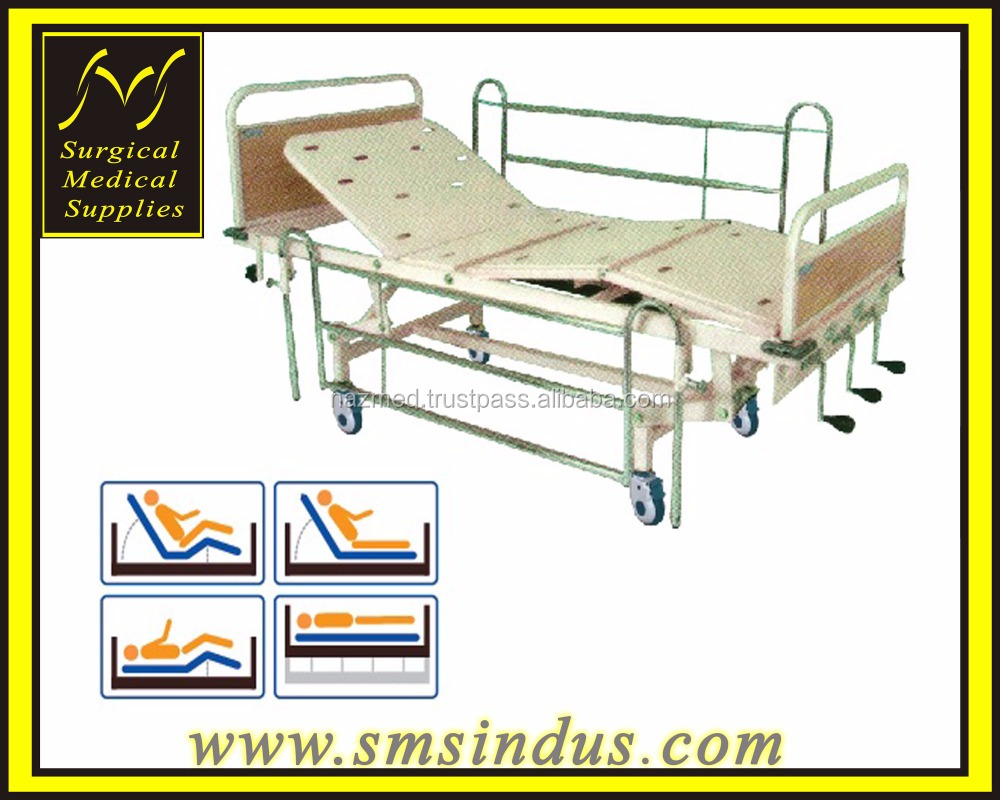 HI LO Hospital Bed 4 Section Double Fowler Positions Mechanical Cranking Mechanism