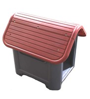 Plastic Dog House-Red 29.13x22.44x25.98 In.