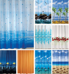 MADE IN TURKEY SHOWER CURTAIN, %100 POLYESTER PRINTED SHOWER CURTAIN , / WATERPROOF SHOWER CURTAIN
